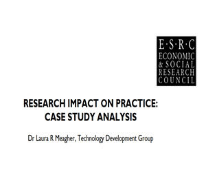 A CASE STUDY OF DAVID'S WORK: RESEARCH IMPACT ON PRACTICE